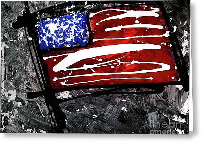 Us Flag Series #2 Greeting Card by Chuck Redick