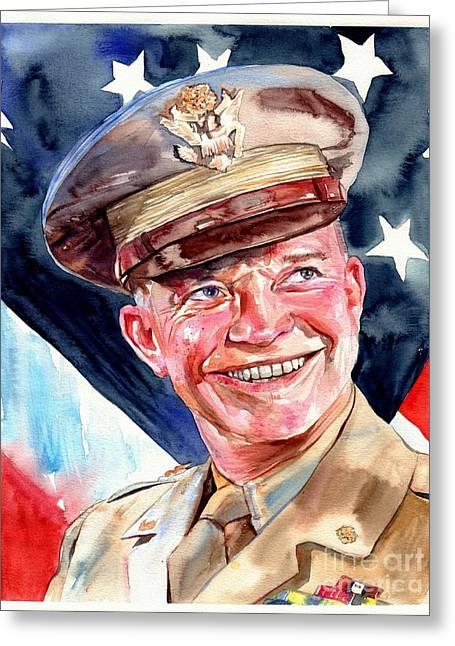 Us General Dwight D. Eisenhower Greeting Card