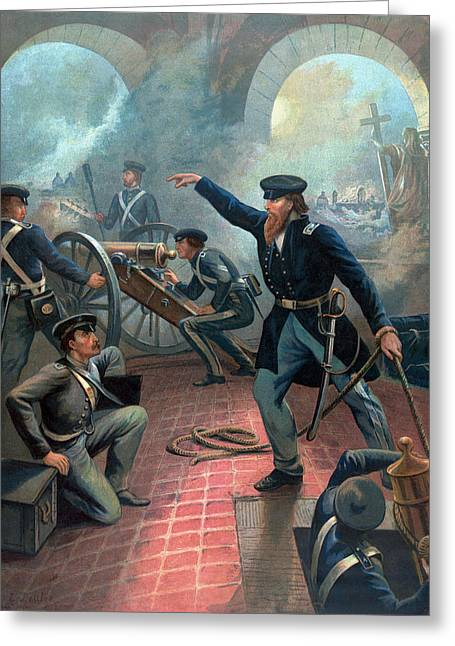 U.s. Grant At The Capture Of The City Of Mexico Greeting Card by War Is Hell Store