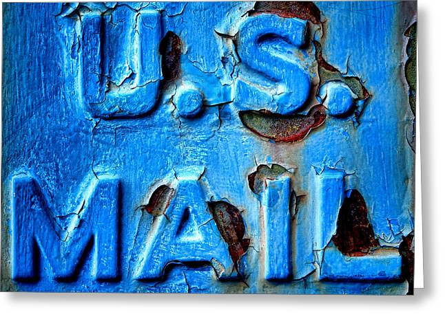 Us Mail Greeting Card by Olivier Le Queinec