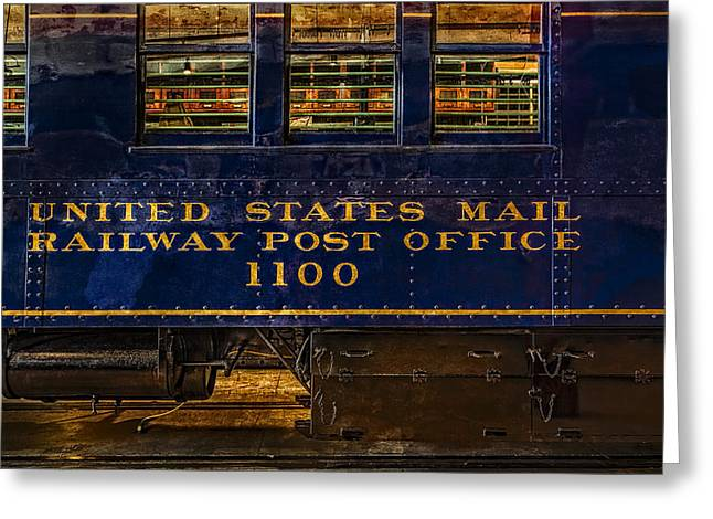 Us Mail Railway Post Office Train Greeting Card