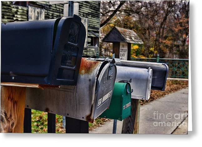 Us Mailboxes Greeting Card
