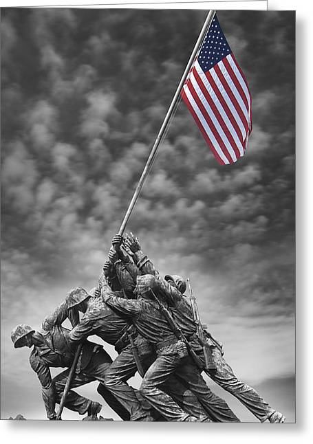 Us Marine Corps War Memorial Greeting Card by Mike McGlothlen