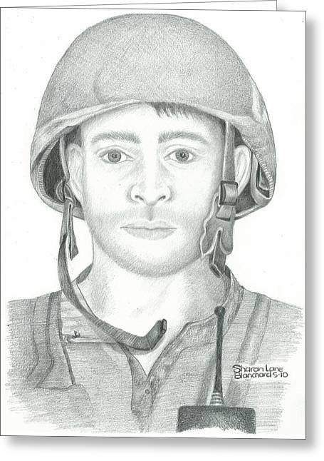U.s. Marine Sgt. Afghanistan Greeting Card by Sharon Blanchard
