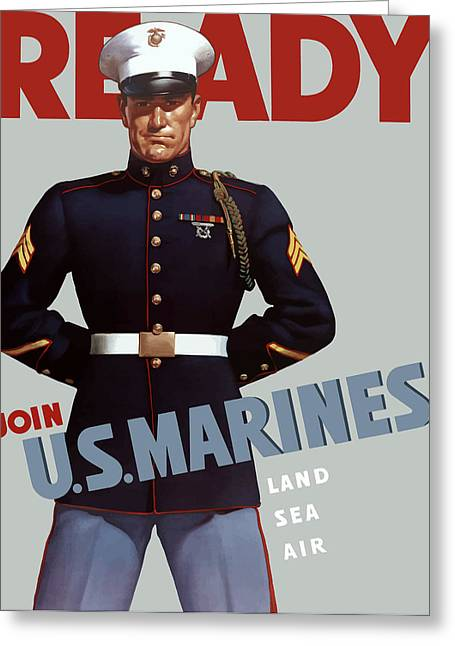 Us Marines - Ready Greeting Card