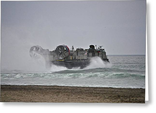 Us Navy Hovercraft Greeting Card
