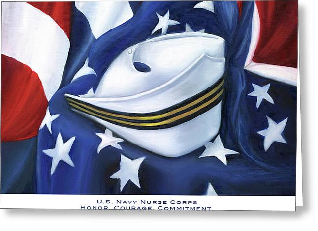 Naval History Greeting Cards - U.S. Navy Nurse Corps Greeting Card by Marlyn Boyd