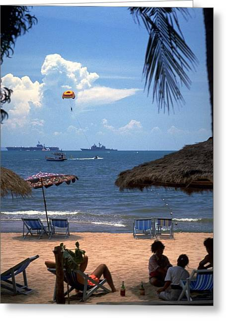 Us Navy Off Pattaya Greeting Card