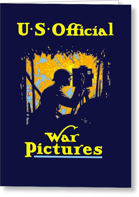 Ww1 Greeting Cards - U.S. Official War Pictures Greeting Card by War Is Hell Store