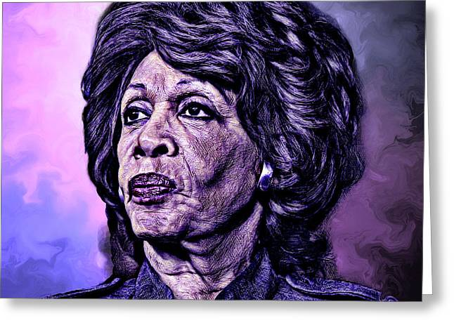 Us Representative Maxine Water Greeting Card