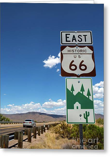 Us Route 66 Sign Arizona Greeting Card