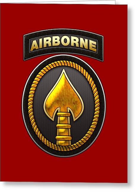 U. S. Special Operations Command - U S S O C O M Patch Greeting Card by Serge Averbukh