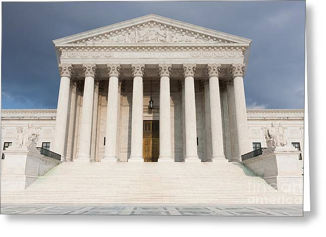 Us Supreme Court Building V Greeting Card