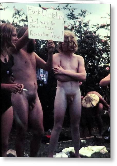 Usa Anti War Movement 1972 Greeting Card
