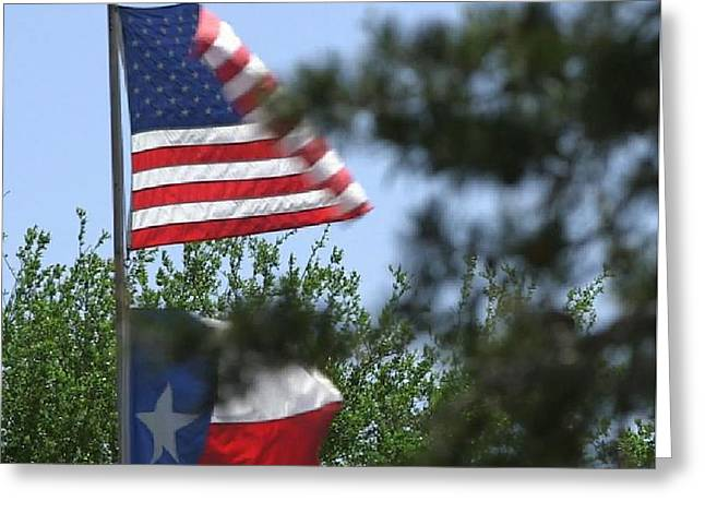 Usa Blesses Texas Greeting Card