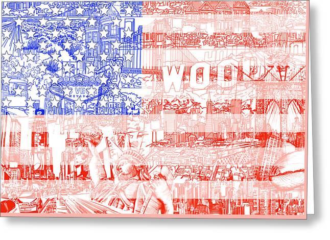 Usa Flag 1 Greeting Card