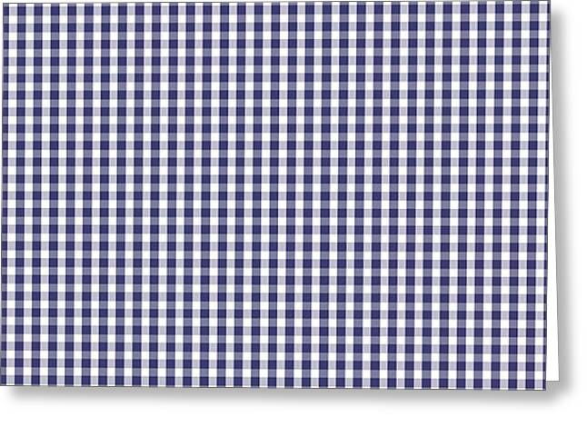 Usa Flag Blue And White Gingham Checked Greeting Card