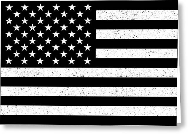 Greeting Card featuring the digital art Usa Flag Hidef Super Grunge Patina by Bruce Stanfield