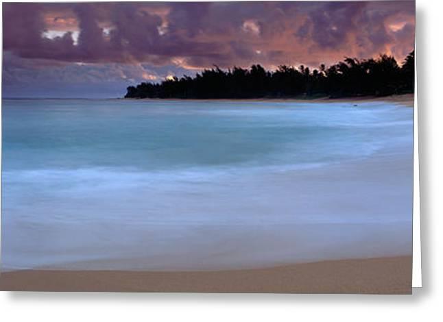 Usa, Hawaii, Kauai, Haena Beach, Storm Greeting Card by Panoramic Images