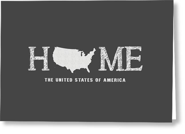 Usa Home Greeting Card by Nancy Ingersoll