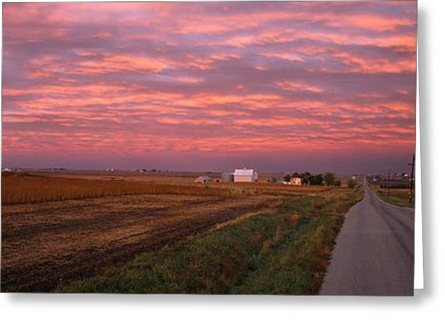 Usa, Illinois, Road Greeting Card