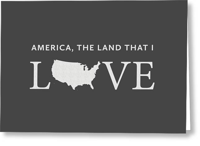 Usa Love Greeting Card by Nancy Ingersoll