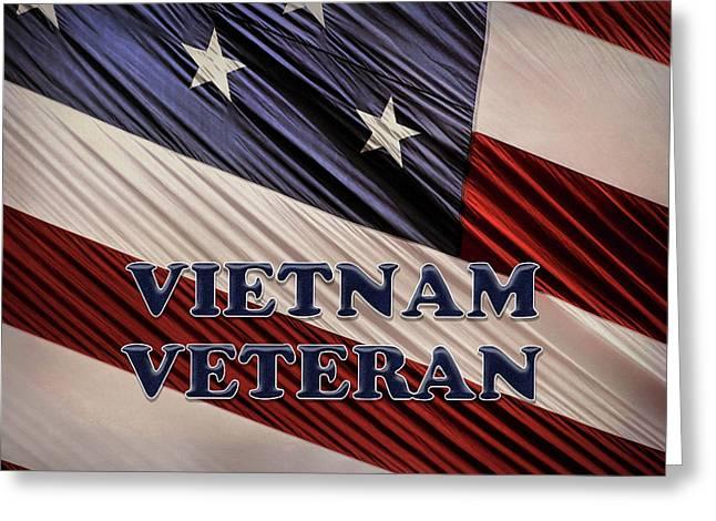 Usa Military Patriotic Flag Vietnam Veteran Greeting Card