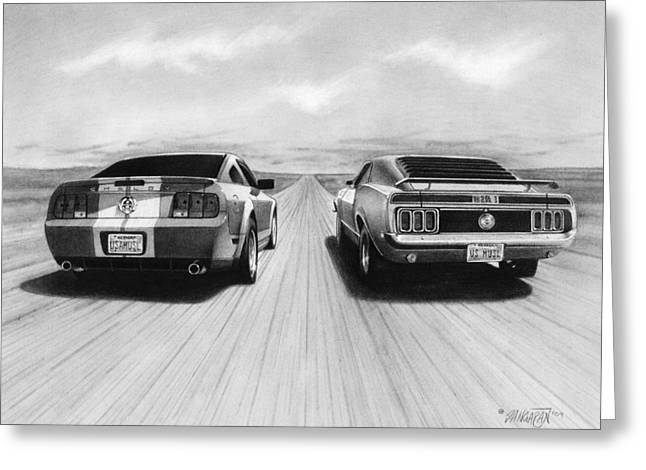 Usa Muscle II Greeting Card by Tim Dangaran