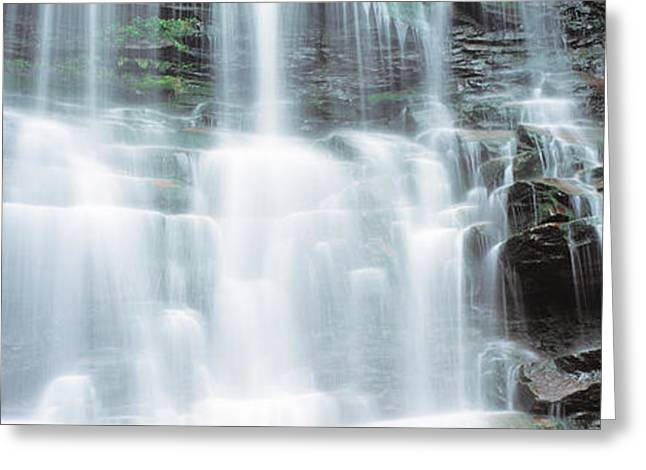 Usa, Pennsylvania, Ganoga Falls Greeting Card by Panoramic Images