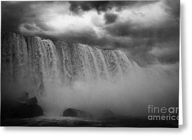 Usa Side Of The Horseshoe Falls Niagara Falls New York State Usa Greeting Card