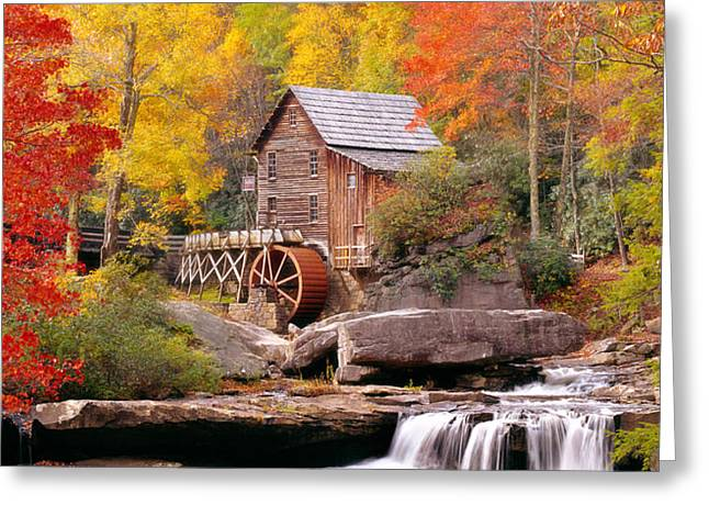 Usa, West Virginia, Glade Creek Grist Greeting Card by Panoramic Images
