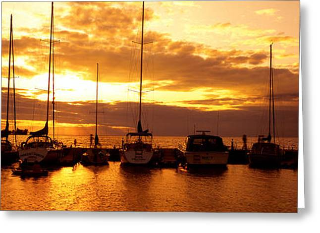 Usa, Wisconsin, Door County, Egg Harbor Greeting Card by Panoramic Images