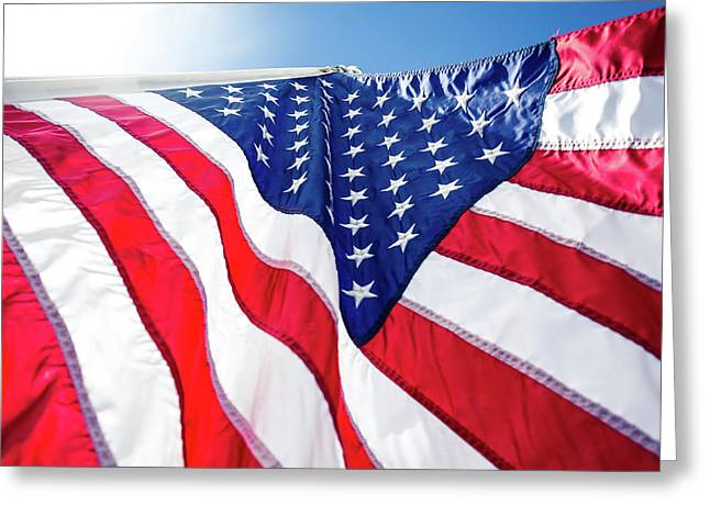 Usa,american Flag,rhe Symbolic Of Liberty,freedom,patriotic,hono Greeting Card