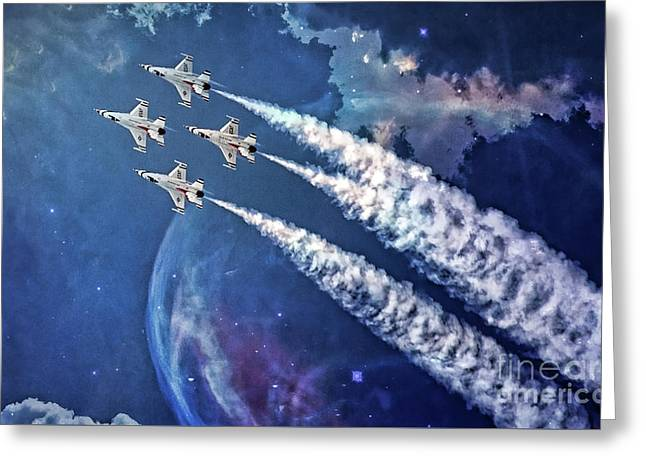 Usaf Thunderbirds Diamond Formation Greeting Card