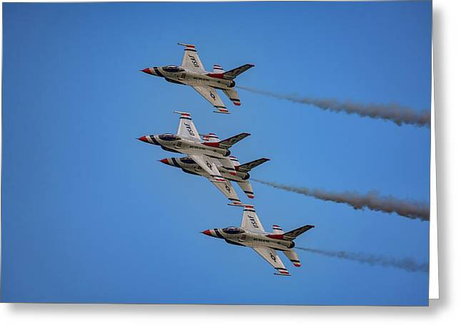 Greeting Card featuring the photograph Usaf Thunderbirds by Rick Berk