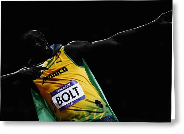 Usain Bolt Fastest Man Alive Greeting Card
