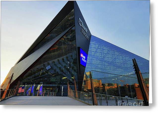 Usbank Stadium The Approach Greeting Card