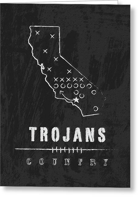 Usc Trojans Country Greeting Card