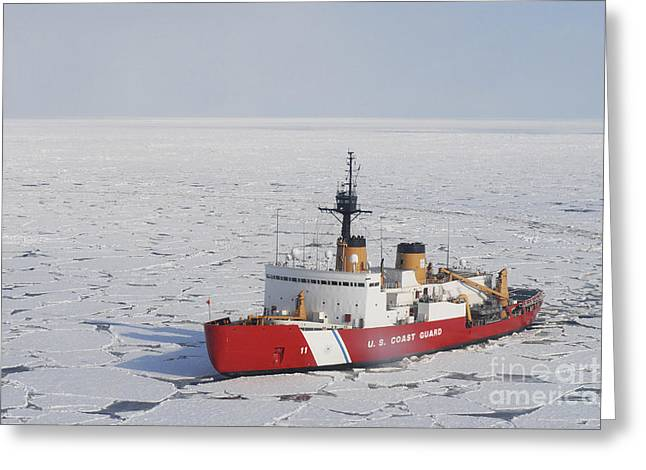 Uscgc Polar Sea Conducts A Research Greeting Card