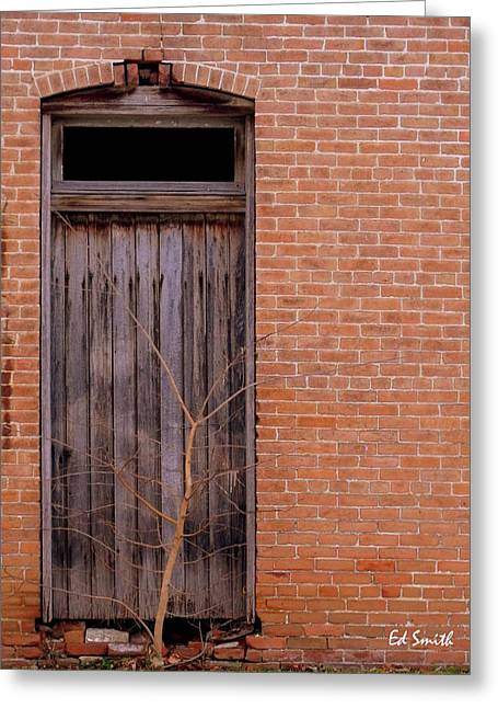 Use Side Entrance Greeting Card by Ed Smith