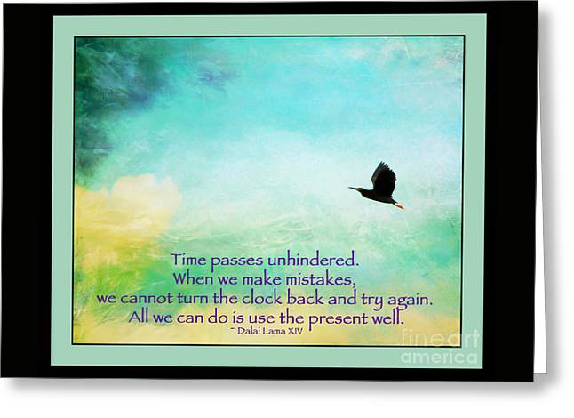 Use The Present Well Greeting Card