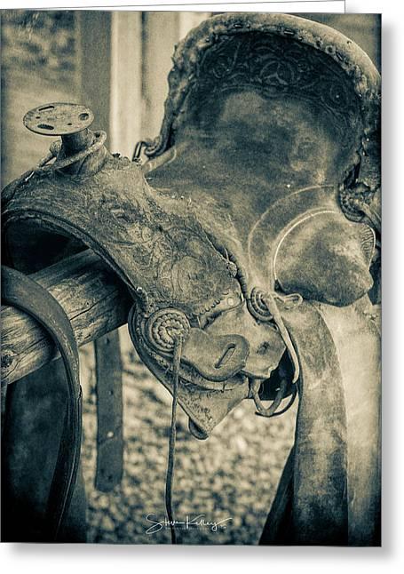 Used Saddle Greeting Card