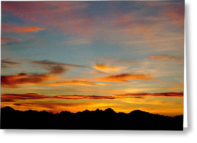 Usery Sunset Greeting Card