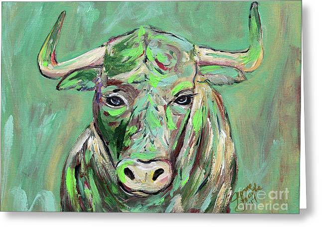 Usf Bull Greeting Card by Jeanne Forsythe