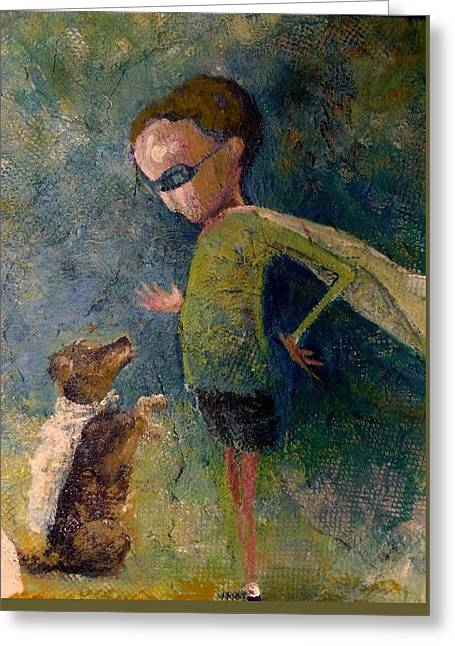 Greeting Card featuring the painting Using My Superpowers by Eleatta Diver