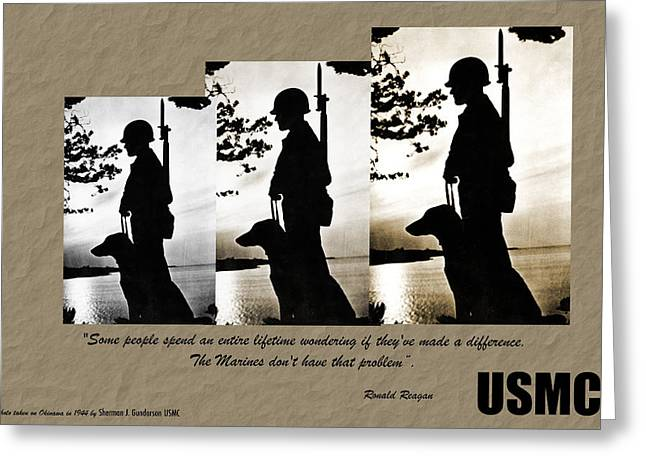 Usmc 1944 Greeting Card