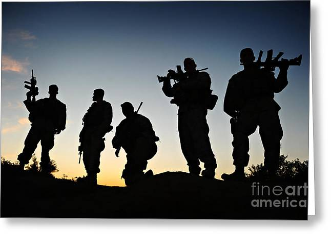 Usmc Team Greeting Card by Celestial Images