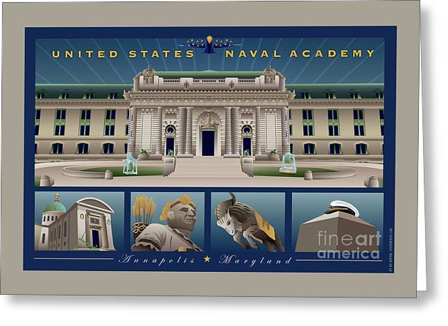 Usna Monuments Tribute 2 Greeting Card