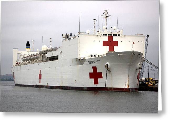 Usns Comfort  Baltimore Maryland Greeting Card by Wayne Higgs