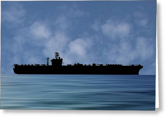 Uss Abraham Lincoln 1988 V1 Greeting Card